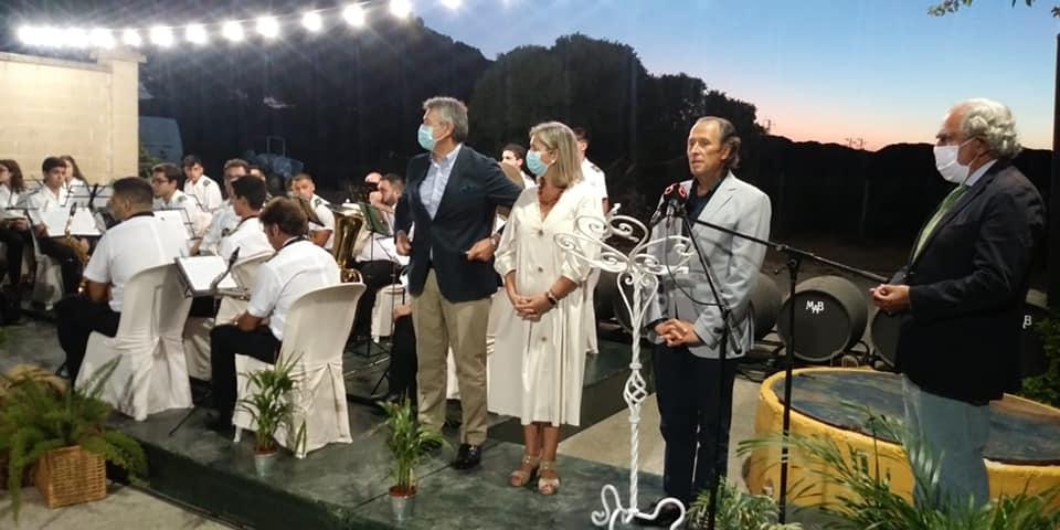 José María Román en la presentación del pasodoble dedicado al Fino Granero